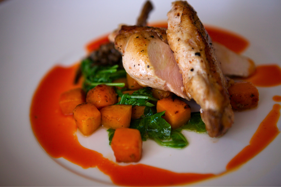Pan Roasted Chicken with Squash | Blue Plate Catering