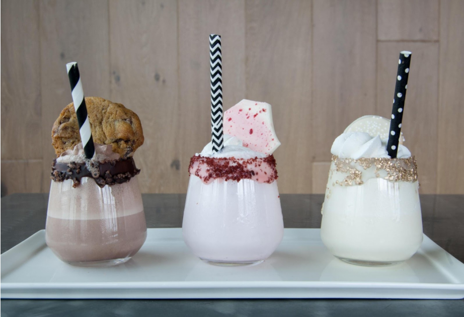 Neapolitan Milkshakes, photo: Blue Plate Catering