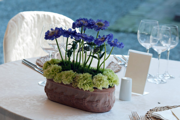 Phenomenal Diy Spring Wedding Centerpieces Blue Plate Catering Home Interior And Landscaping Fragforummapetitesourisinfo